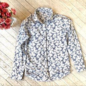 EUC UNIQLO Ines de la Fressange cotton shirt